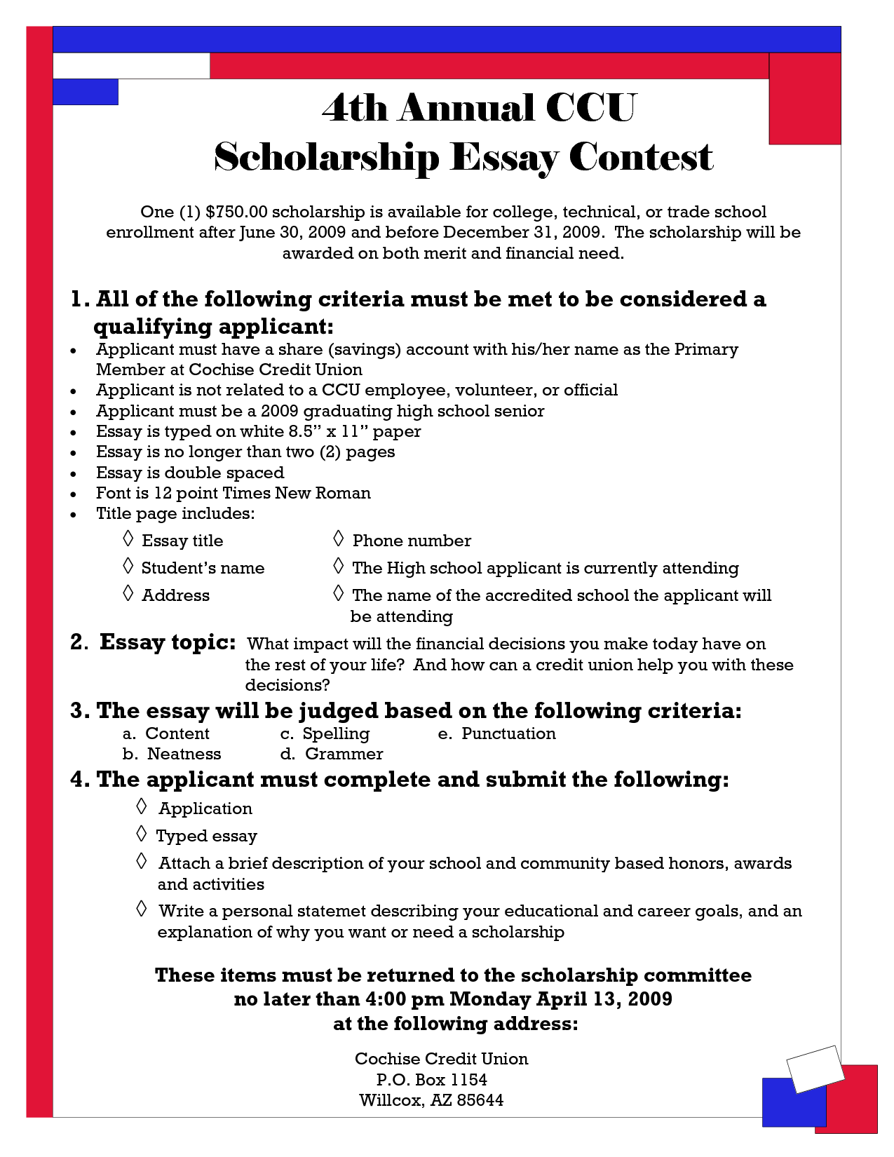 Essay contest summer 2011